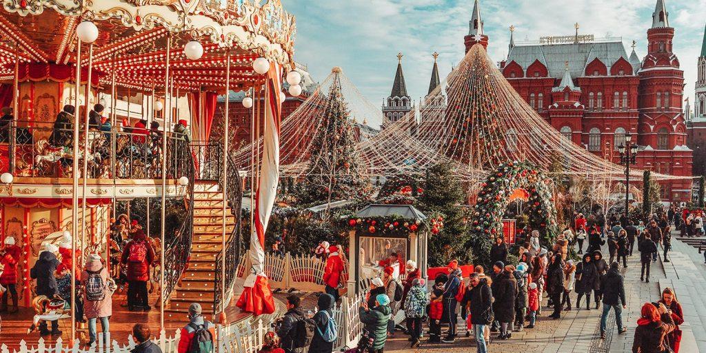 Лучшие места в Москве для празднования Нового года